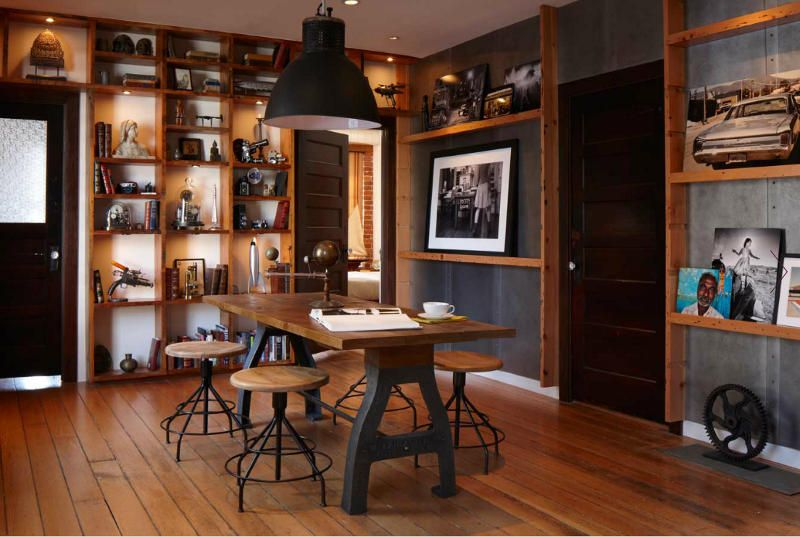 Classical Industrial Loft Interior Design With Open Wall Shelves .
