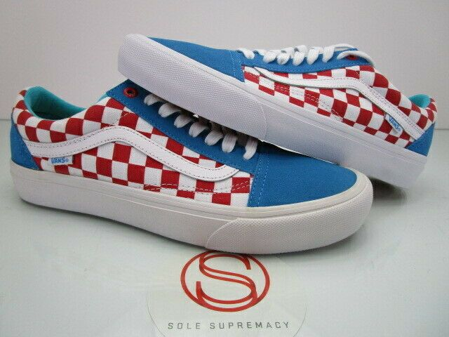 8d556432e2c2 Details about Vans Old Skool Pro Golf Wang Blue and Red Checkers in ...