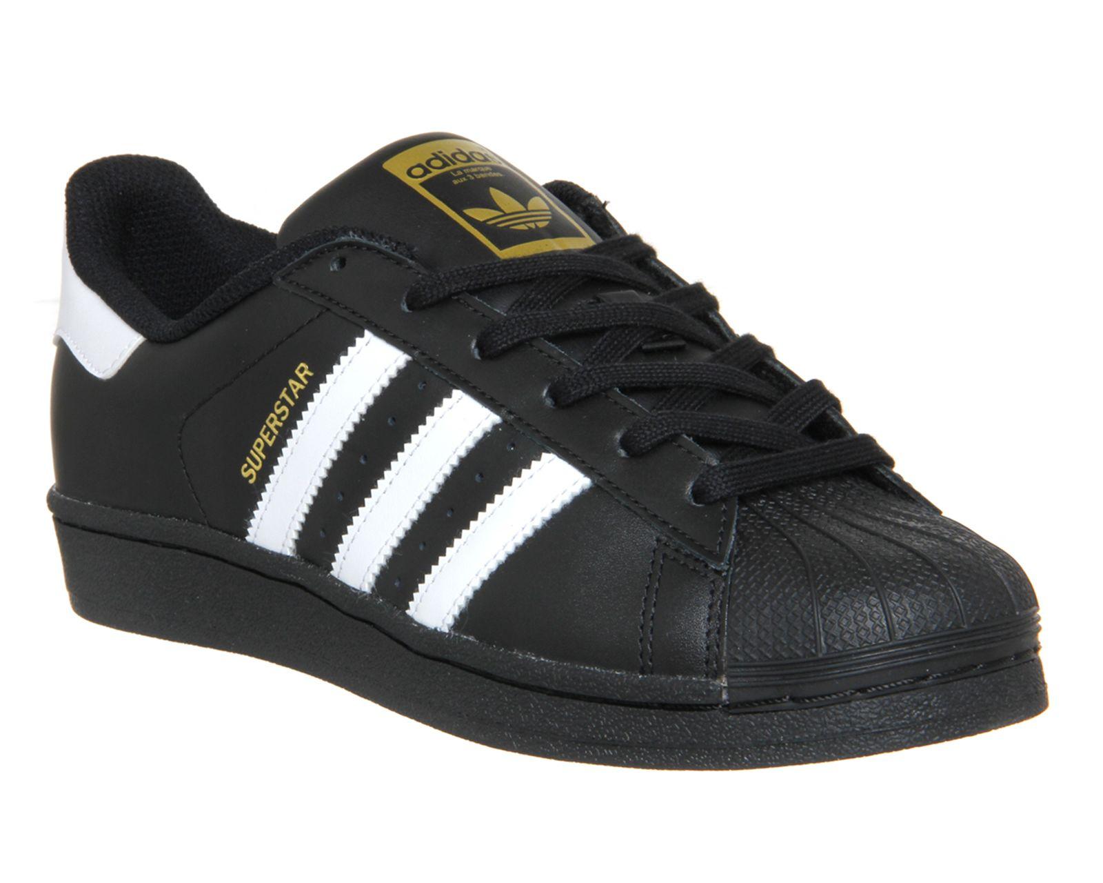 nett Adidas Superstar GS Black White Foundation Kids Trainers  Kostenloser Versand