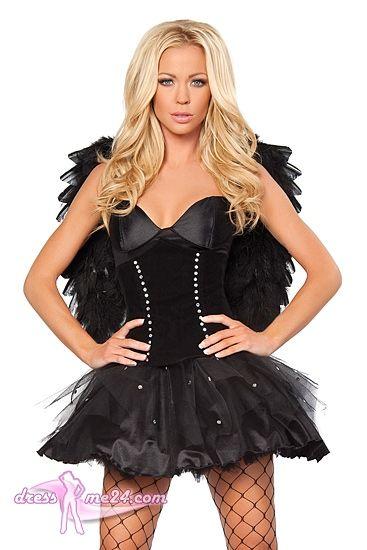 Besuche Uns Gern Auch Auf Dressme24 Com Schwarzer Engel Kostum