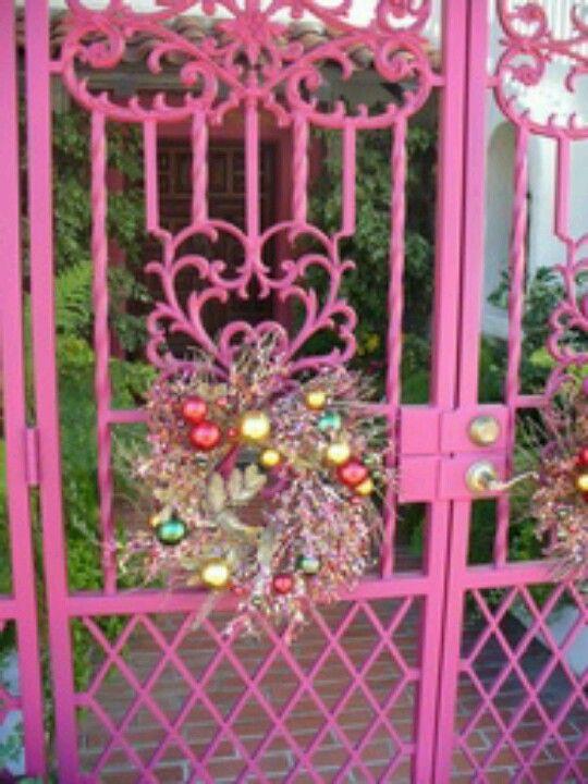 Pink gate..