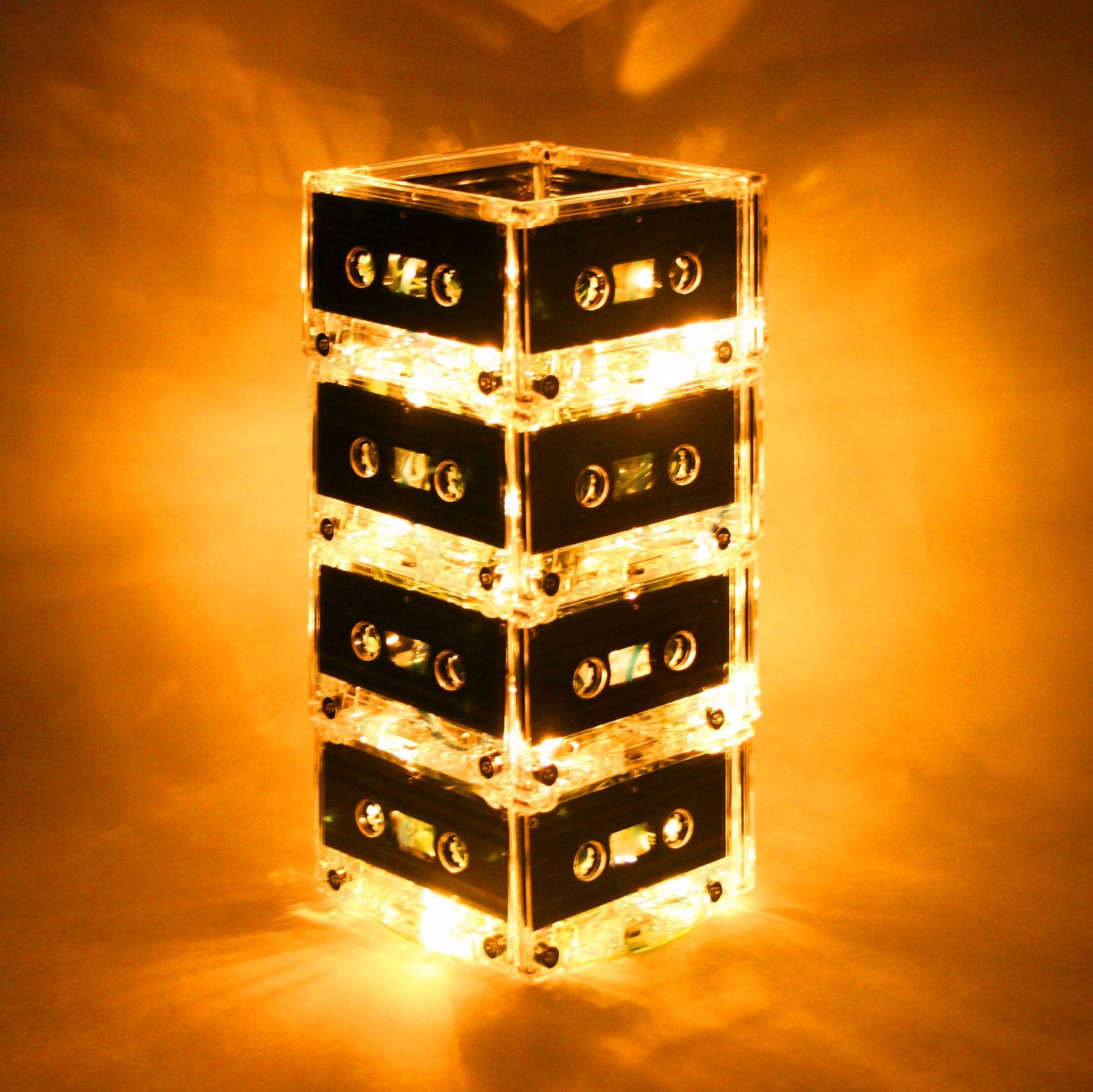 this is amazing yellow mixtape light cassette tape lamp 79 00 this would be cool for our music themed room mixtape light yellow now featured on fab