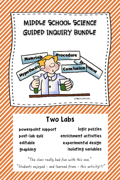 Middle School Science Guided Inquiry Labs Skills In The Scientific Method Are Middle School Science Teaching Middle School Science Science Teaching Resources
