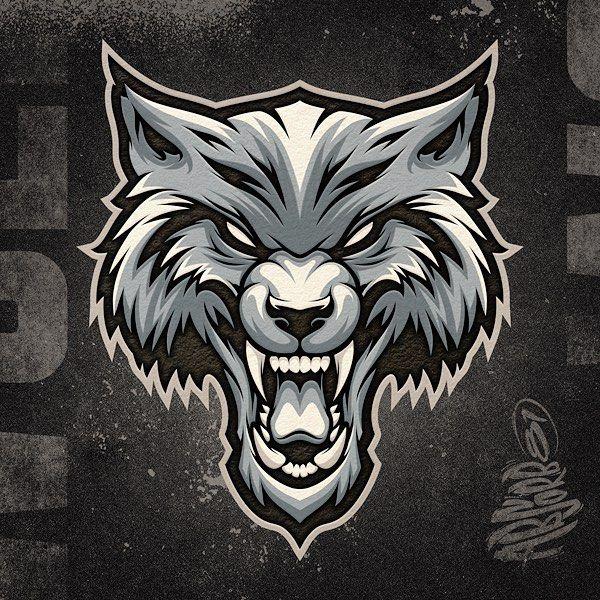 "Absorb81 // Craig Patterson on Instagram: ""Custom Mascot Design // Client WIP —— #wolf #mascot #design #art #vector #logo #logodesign #mascotdesign #beast #fangs #adobe"""