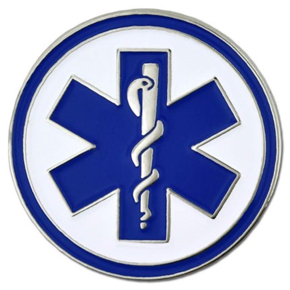 LAPEL PIN EMS EMERGENCY MEDICAL SERVICES EMT PARAMEDIC New!