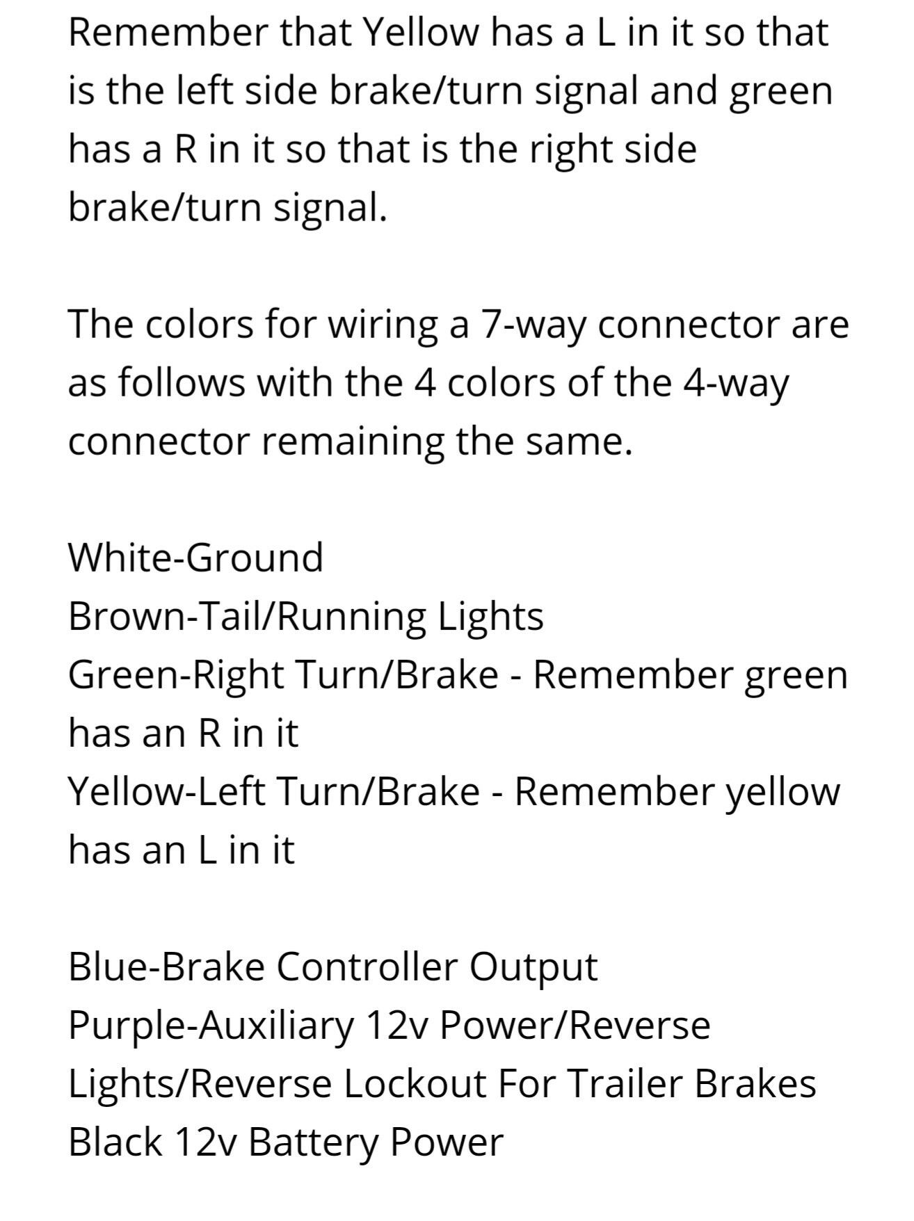 Color Code For Trailer Wires Agricultural Science Pinterest Wiring