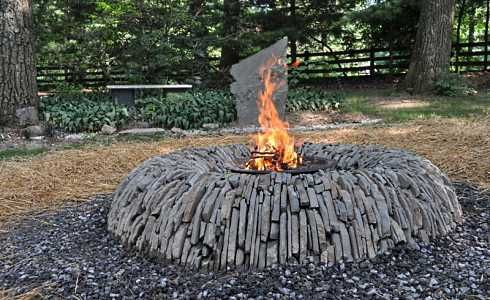 Stone Fire Pit Designs Veritable Works Of Art Outdoor Rustic Pits