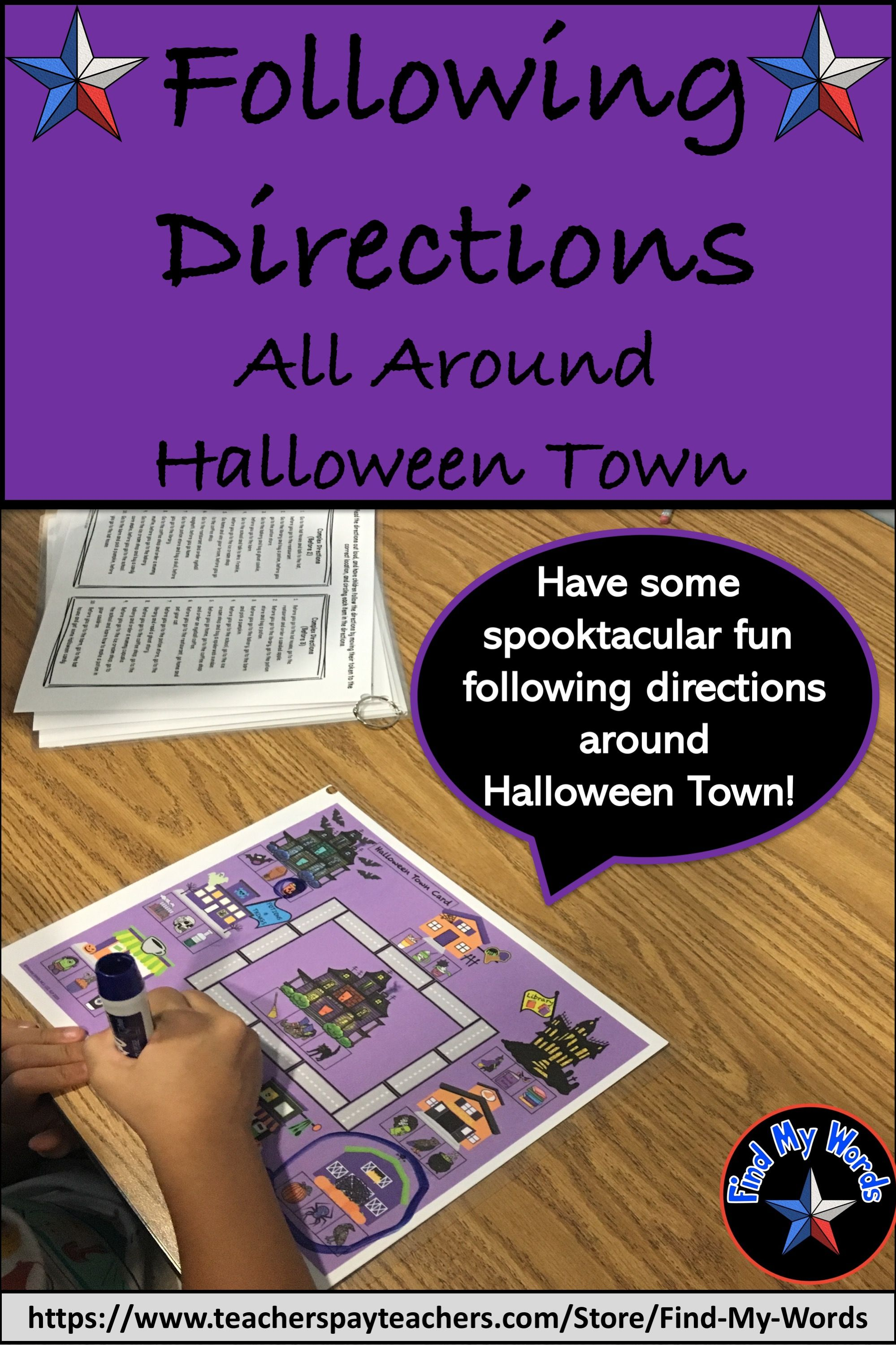 Listening And Following Directions Halloween Activity