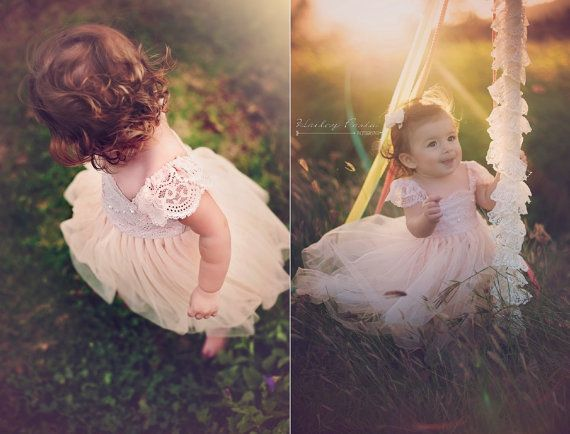 824794d11 Magic Orchid French lace and silk tulle dress for baby girl Flower ...