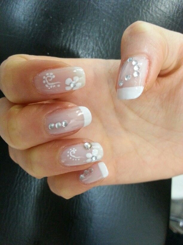 French manicure with gems | nails | Pinterest | Manicure