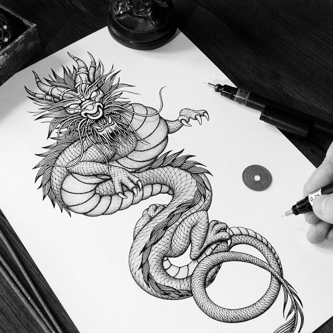 How To Draw A Dragon Tips From 5 Artists Japanese dragon