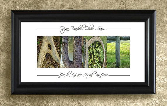 UNCLE or AUNT GIFT - Alphabet Letters Photography, Home Decor