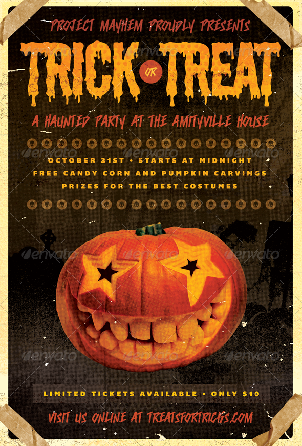 Tricked Treats   Halloween Flyer Template