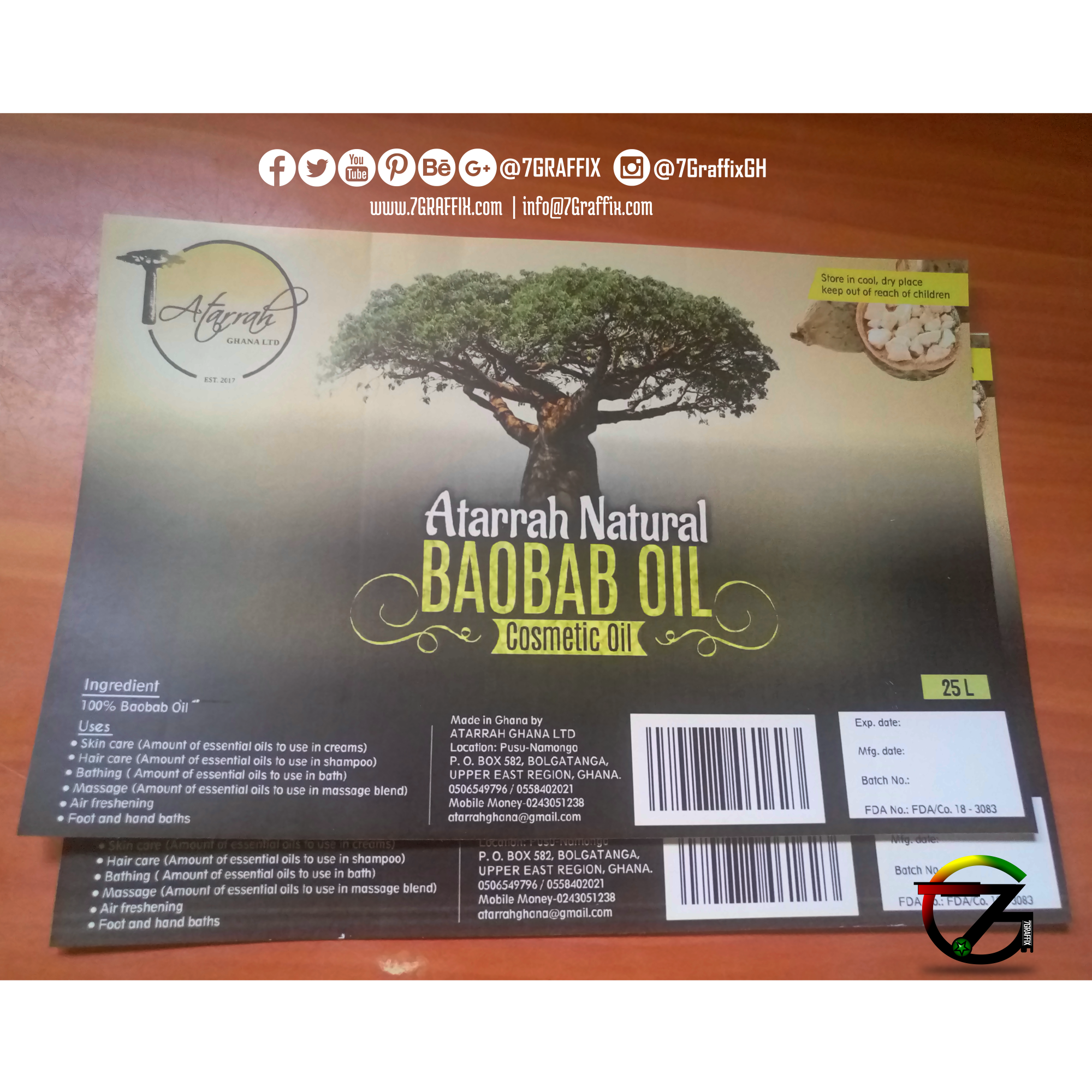 ATARRAH BOABAB OIL PRODUCT LABEL PRINT (BY 7GRAFFIX