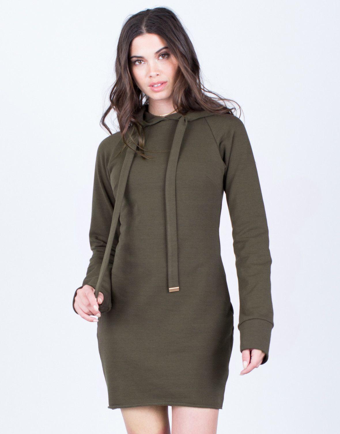 Hoodie Sweater Dress | Heather grey, Hoodie and Gray
