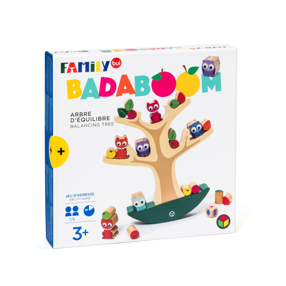 Jeu de société l'arbre d'équilibre Badaboom Familybul création Oxybul | Jeux de société, Oxybul ...