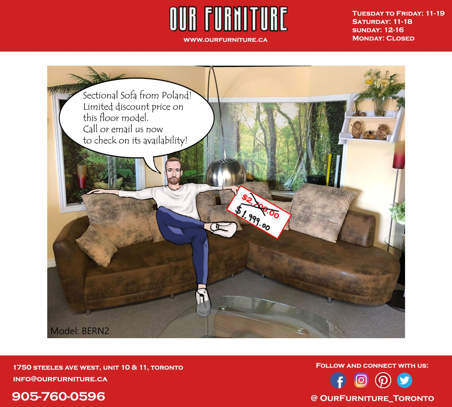 Check Out This Sectional Sofa For Only