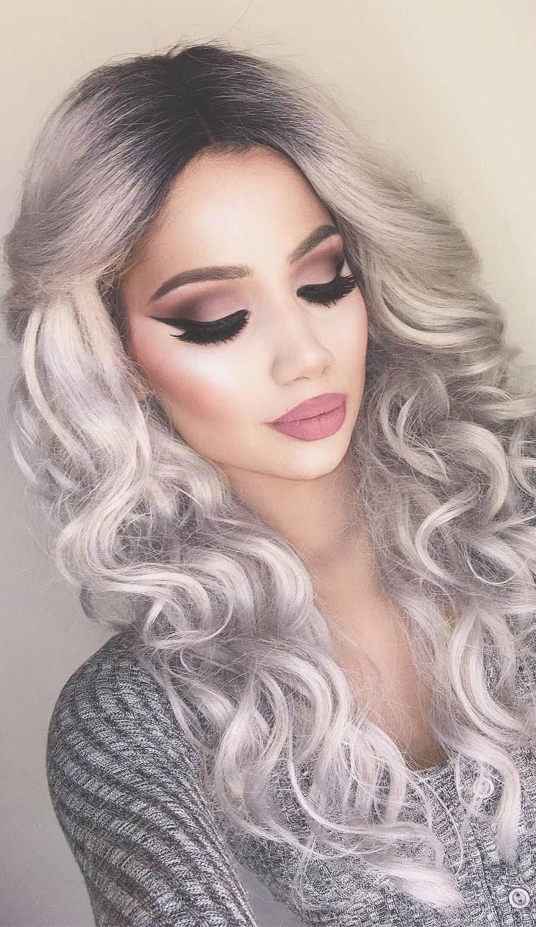 Cute Idea For Evening Makeup Hair Styles Long Hair Styles Hair Makeup