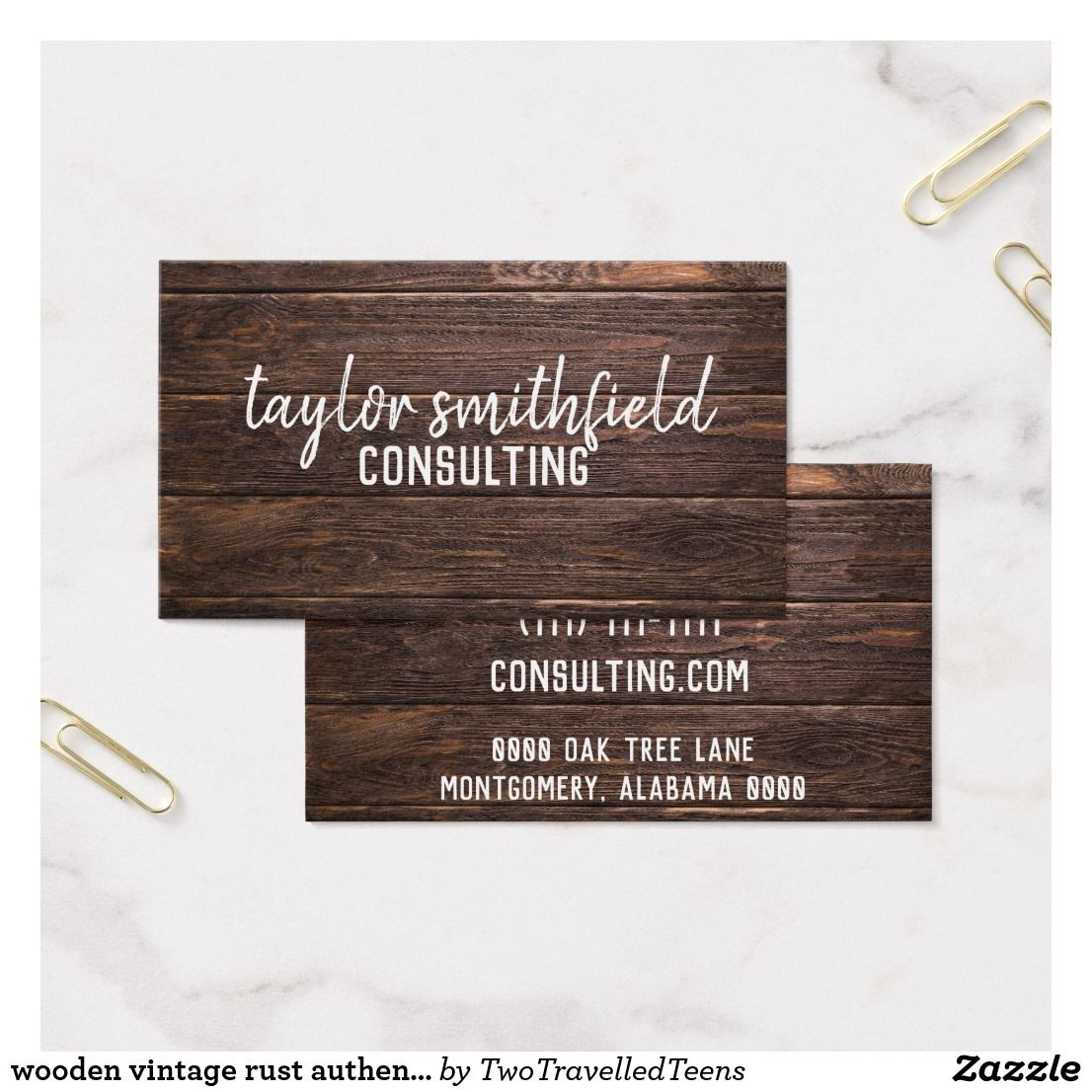 Wooden Vintage Business Card Zazzle Com Vintage Business Cards Trendy Business Cards Customizable Business Cards Templates