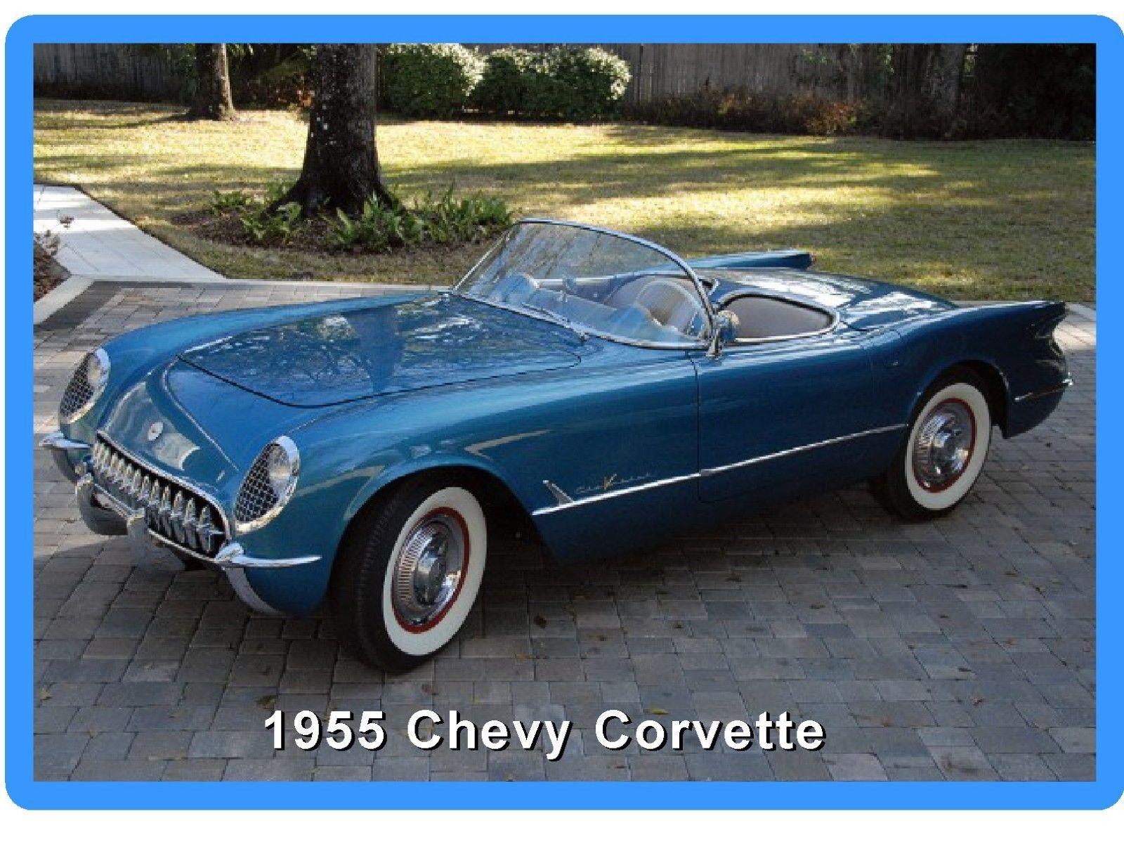 1961 Corvette Convertible Refrigerator Magnet