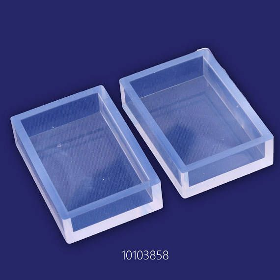 1 Pcs Transparent Silicone Mold for Jewellery Diy,Rectangle Mold Polymer Clay Baking Tools 10103858