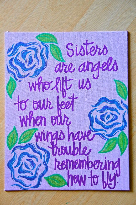 Sisters Are Angels Canvas Painting 11X14 By Graceelliott10 3000