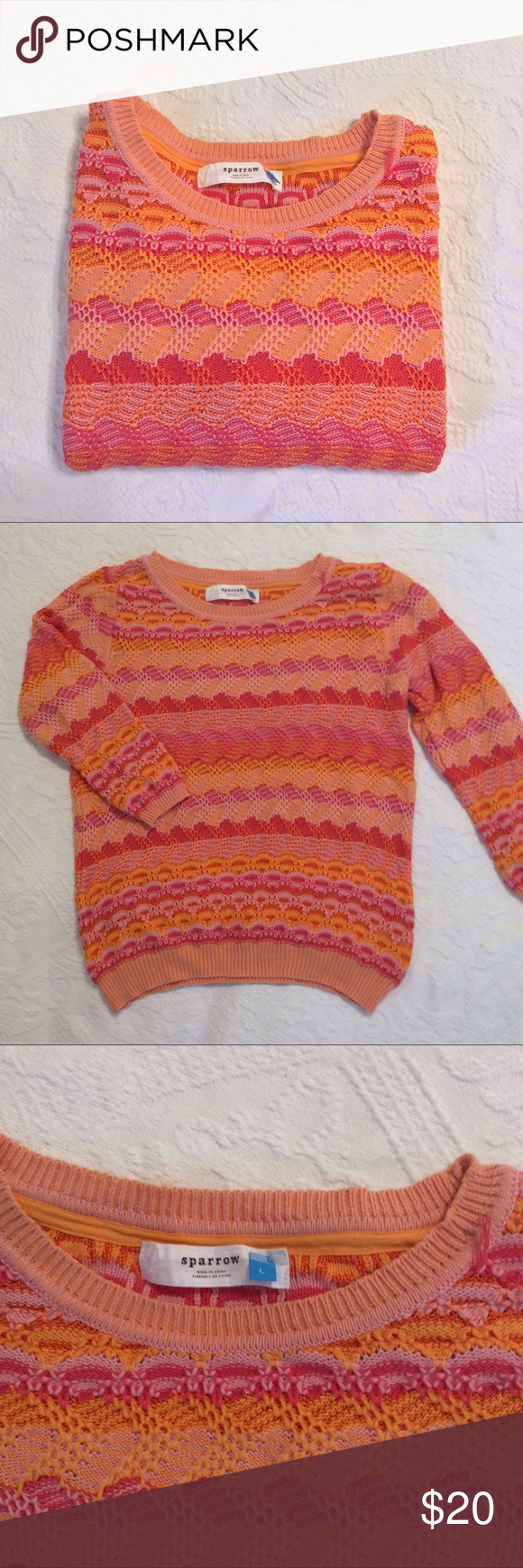 Anthropologie Sparrow Sweater, Large Lightweight sweater in pretty ...