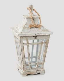 Small Grey Wooden Lantern, Main View