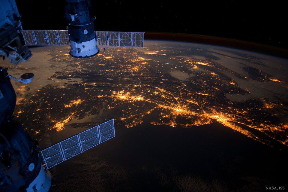 USAs Northeast Megalopolis from Space #NASA