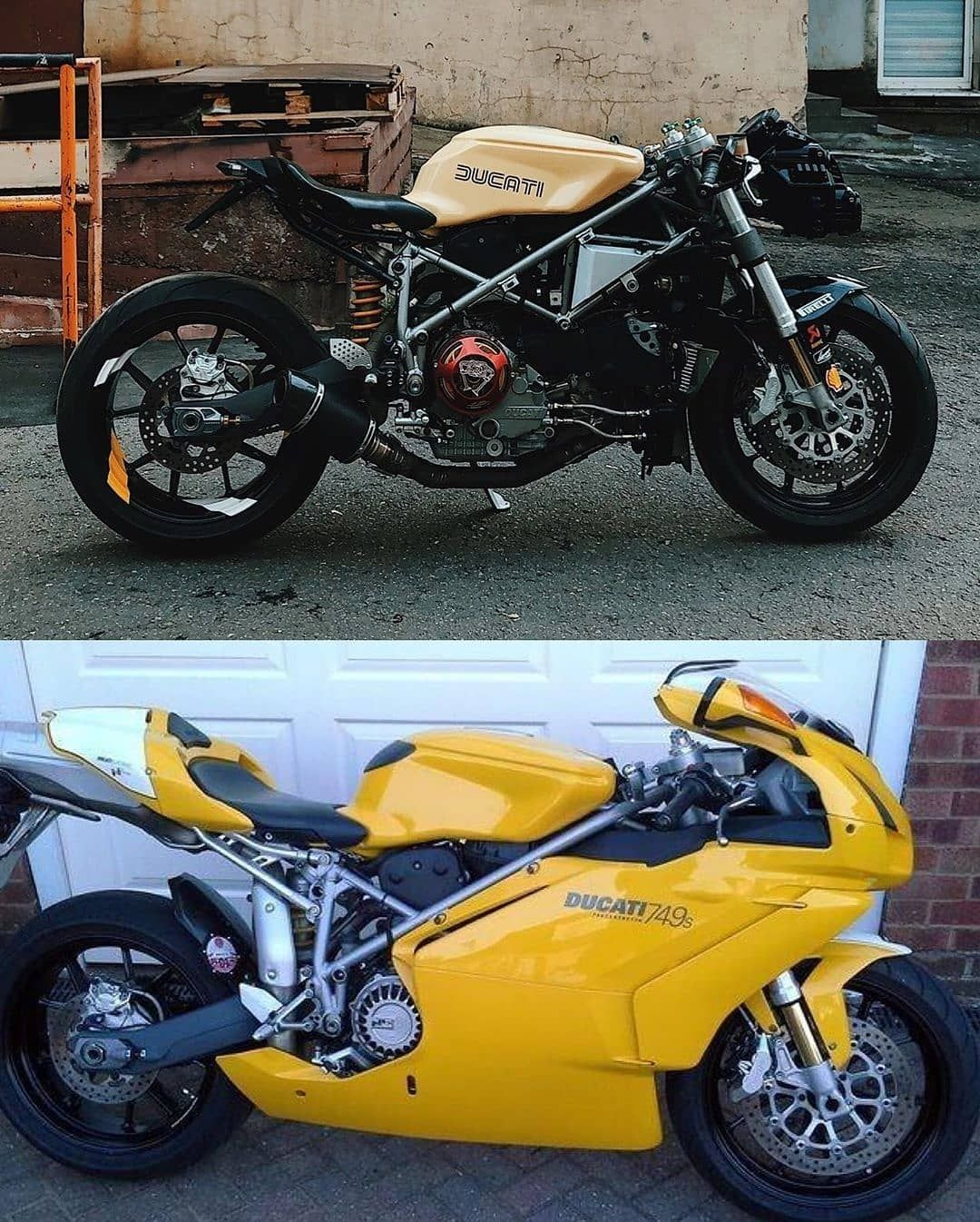 """🇸🇦🇮🇳🇹   🇲🇴🇹🇴🇷🇸™ on Instagram: """"🔧⚒️⚙️ by @ilya_mmbc Ducati 749/999, AFTER & BEFORE. #custom #bike #motorcycle #ducati #aggressiv #fast #instamoto #builtnotbought…"""""""