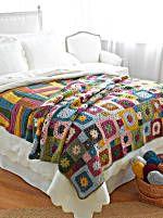Garden Patch Granny Afghan and Wavy Blocks Throw (both crochet)