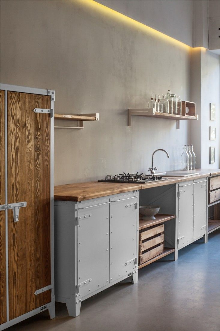 Kitchen Of The Week The New Old World Kitchen From Noodles Noodles Noodles Corp Remodelista Freestanding Kitchen Industrial Kitchen Design Rustic Kitchen