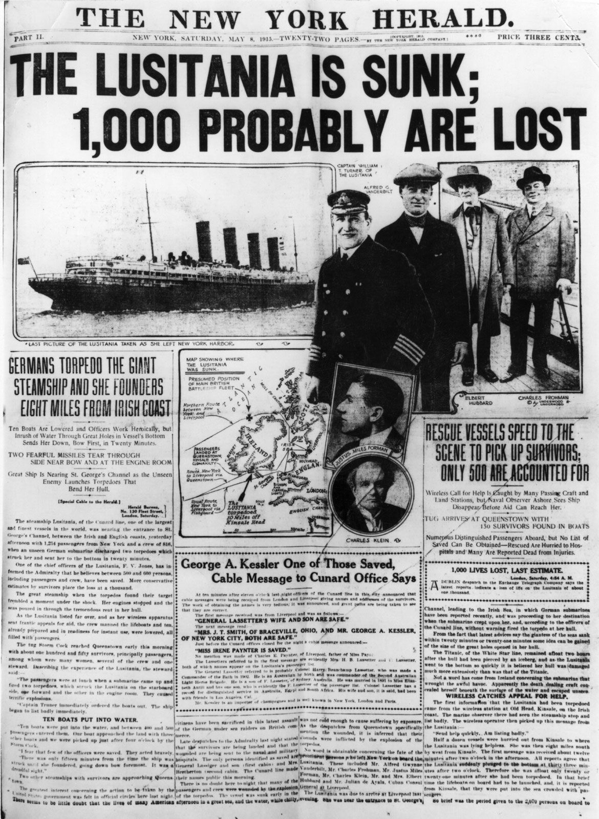 the sinking of the lusitania essay Some consider the sinking of the rms lusitania to be a churchillian  in the  book statesmanship: essays in honor of sir winston churchill.