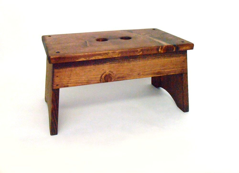 Wooden Step Stool Rustic Step Stool Wooden Foot Stool Footstool