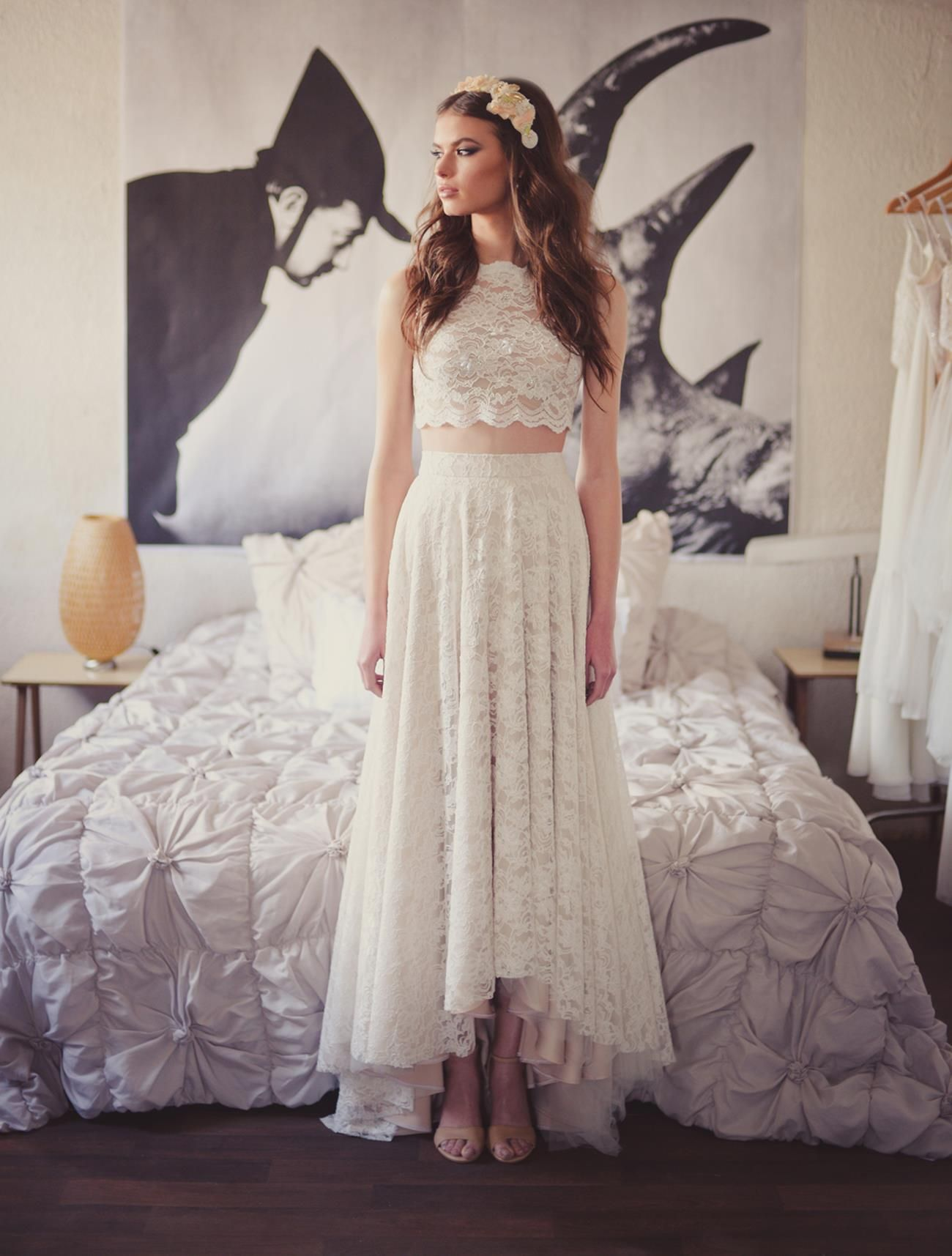 Wedding dress alternatives for the hip bride crop top and for Wedding dresses for big hips