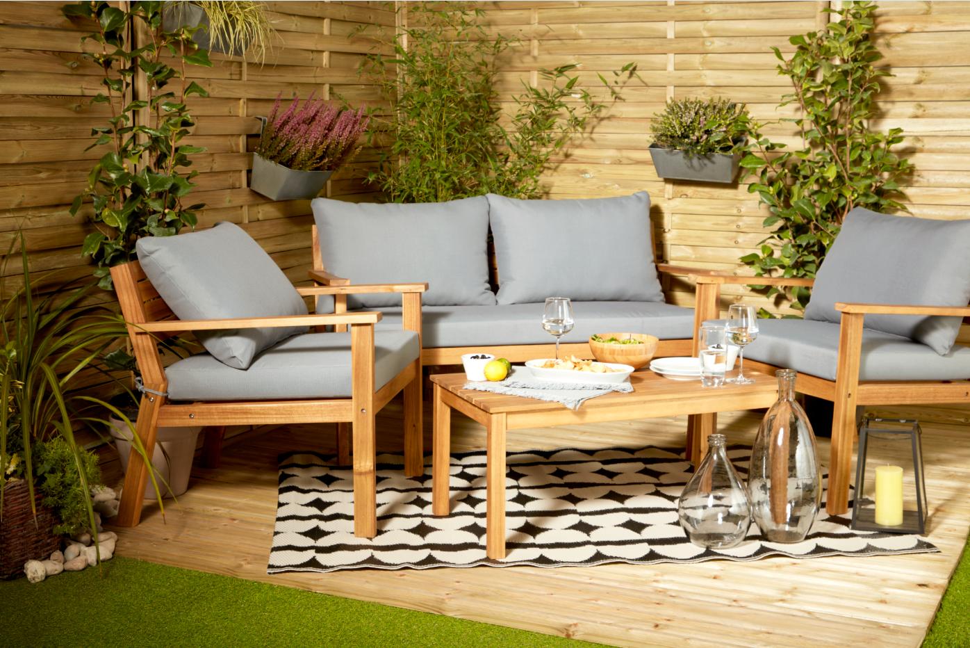 Id al pour profiter de son jardin tout au long de l 39 t - Fabriquer son salon de jardin en bois ...