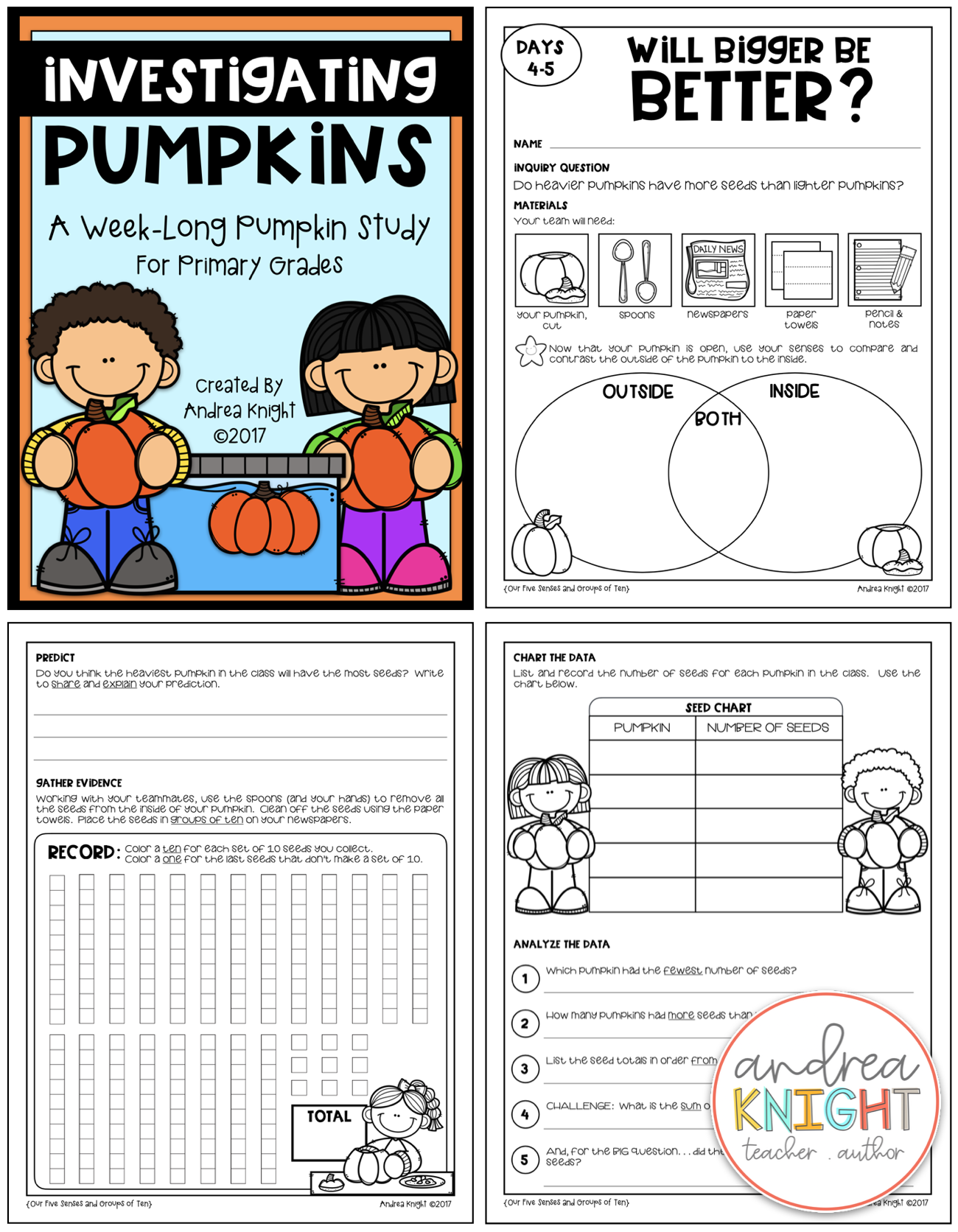 Pumpkin Math Amp Science In