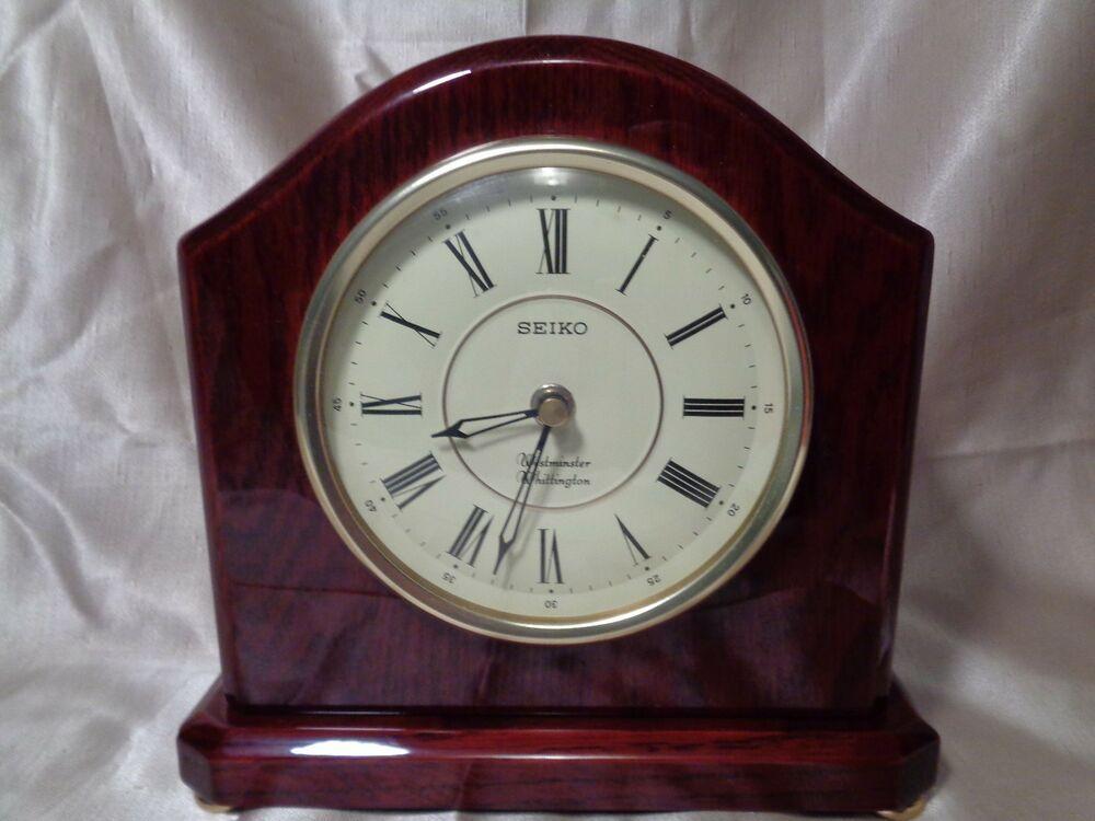 Seiko Westminster Whittington Clock Mantel Clock Cherry Wood Qxj112blh Seiko Mantel Clock Clock Mantle Clock