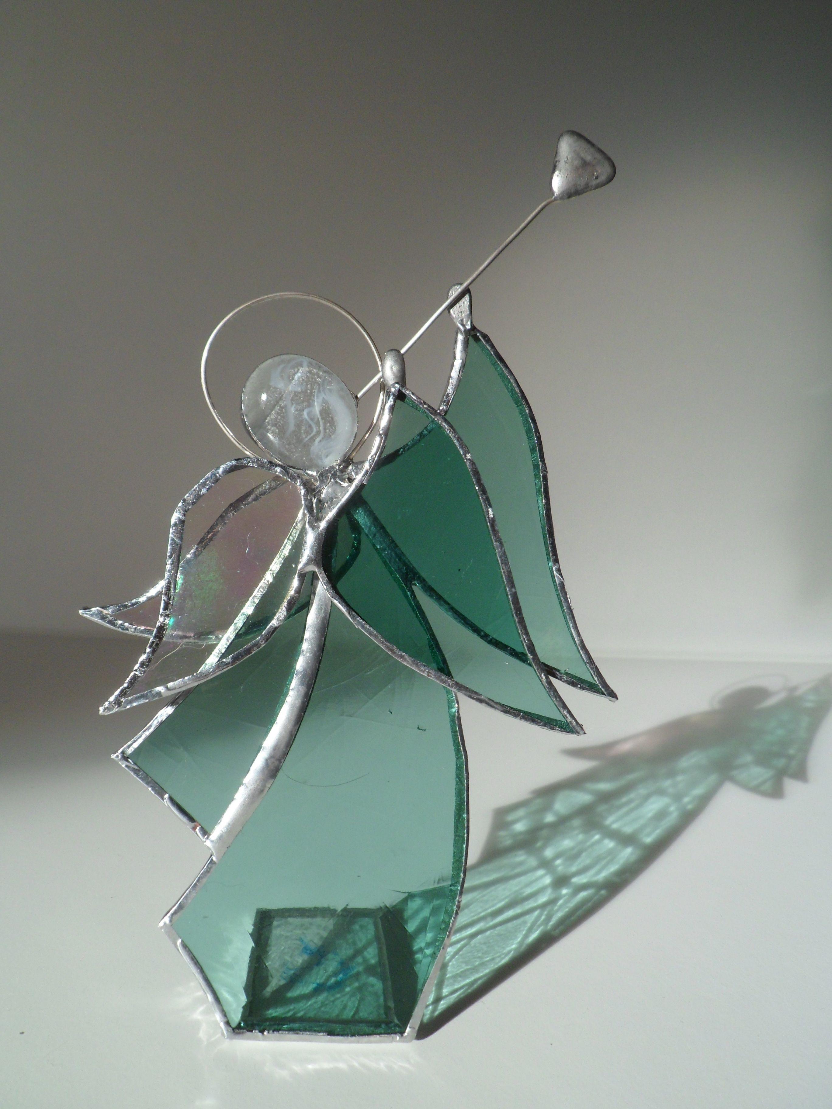 Orphin ange de no l vert vitrail anges angel vitrail stained glass pinterest no l - Patron ange de noel ...