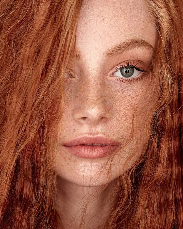Adding freckles to beautiful skin using