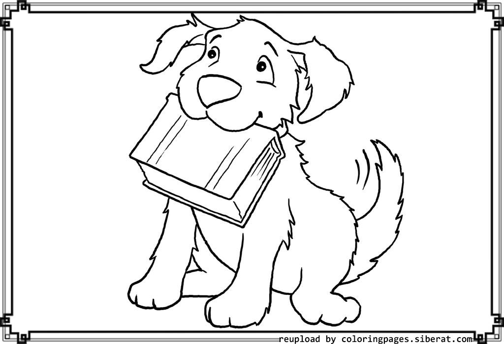 Cute Dog Coloring Pages Biting Book | Bananas for Books ...