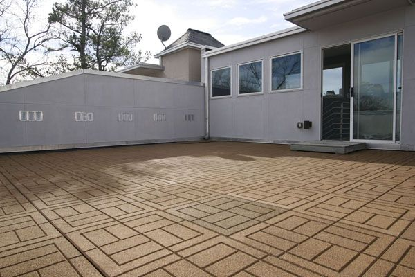 Outdoor Rubber Paver Tiles