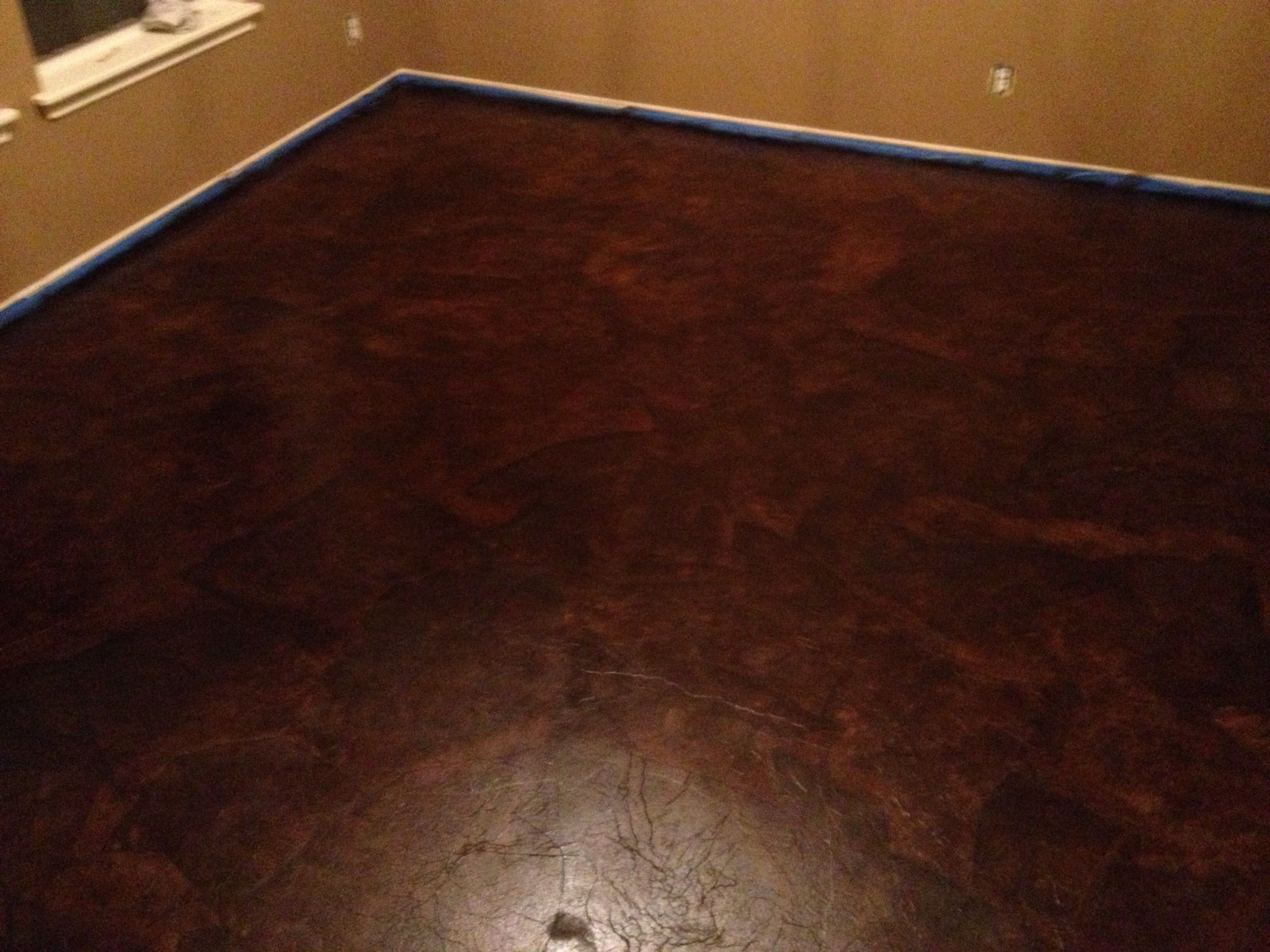 how to clean stained vinyl floors