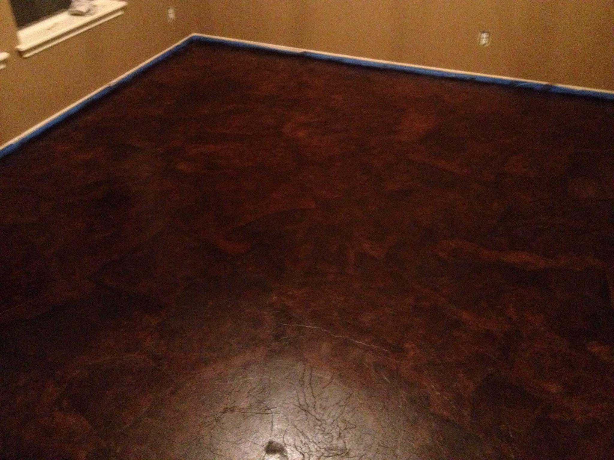 Elegant Basement Floor Staining Cost