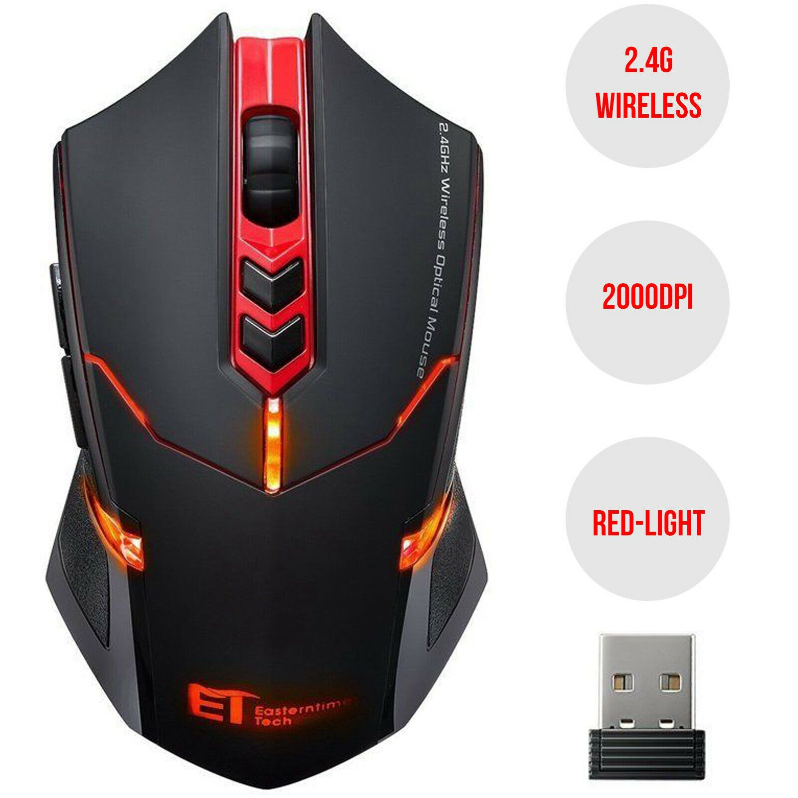 WM01 Rechargeable Wireless Optical Mouse Gaming