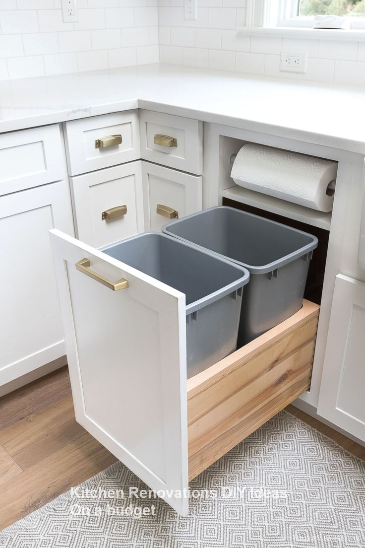 10 Diy Solutions To Renew Your Kitchen Diykitchen10 Diy Solutions To Renew Kitchen Cabinet Storage Diy Kitchen Renovation Kitchen Cabinets Storage Organizers