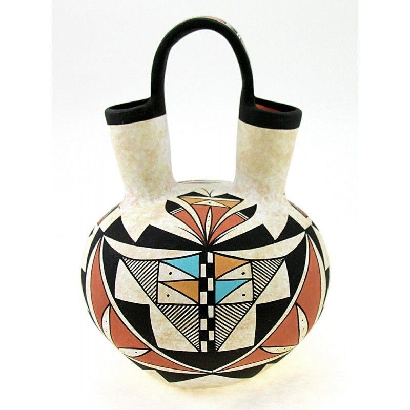 Indian Pottery Native American Wedding Vase By Westly Begaye
