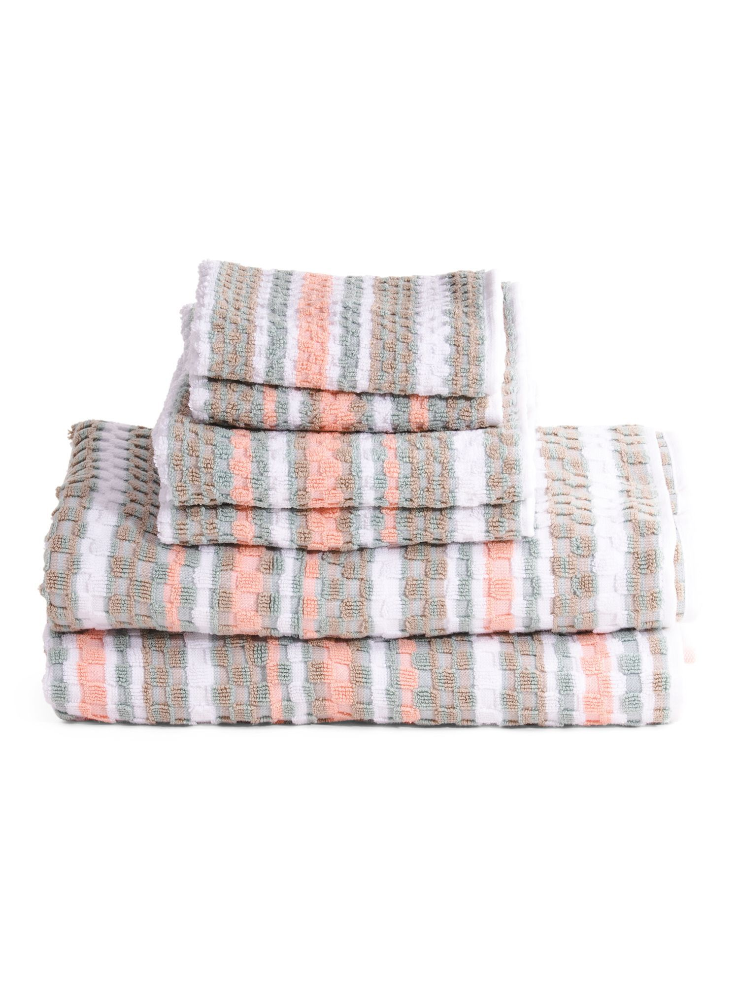 Made In India 6pc Waffle Check Towel Set Towel Set Towel How