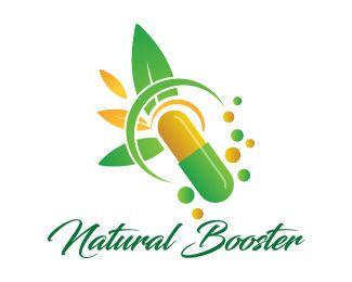 Natural Booster Logo Design Unique Design Logo Of A Capsule With Some Leaves And Bubbles Around It In A Very Creati Medicine Logo Herbal Medicine Logo Design
