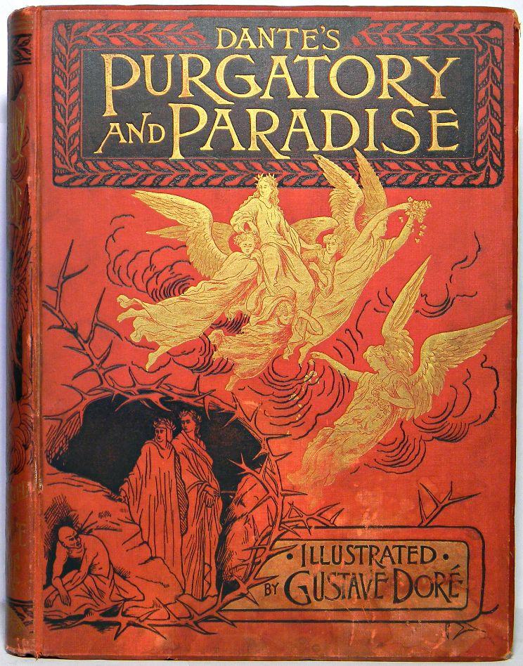 Dante purgatory paradise antique illustrated folio